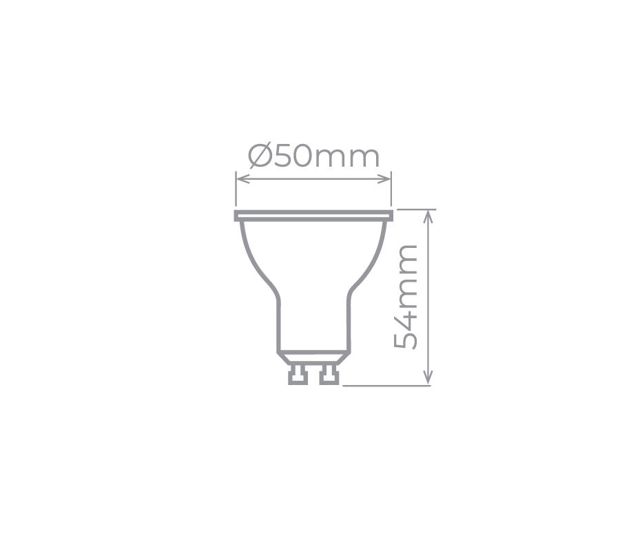 LAMP LED GU10 DIM. 6W 220V 36° 460LM STH8542/27
