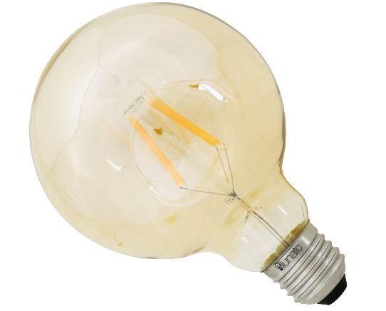 lâmpada globo âmbar 2.300K 4W 400ml 13cm ilunato ILT1970