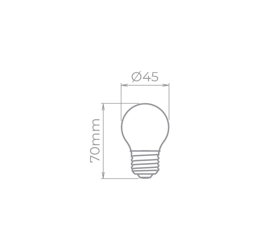 lâmpada mini bulbo 3W BIVOLT Stella STH9200