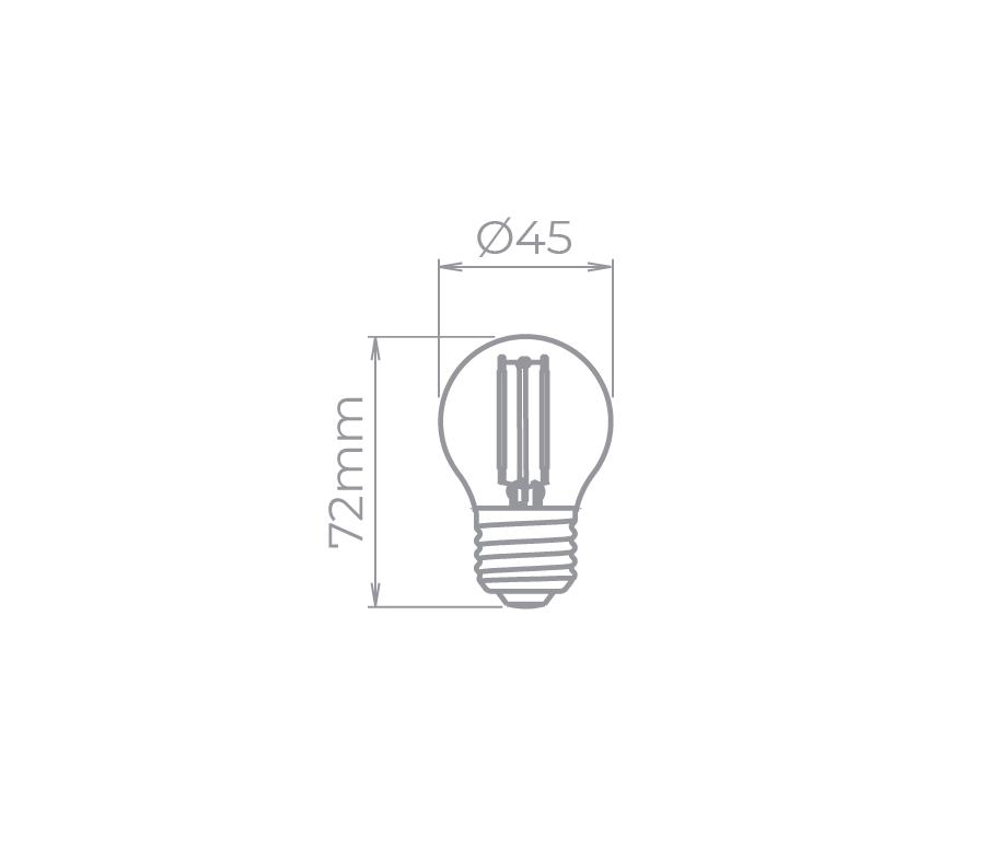 lâmpada mini bulbo filamento COLOR 2W BIVOLT Stella STH6340