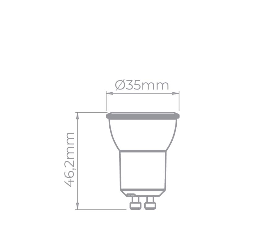 LAMP LED MR11 GU10 BDT 3,5W 36° 210LM STH8515/27