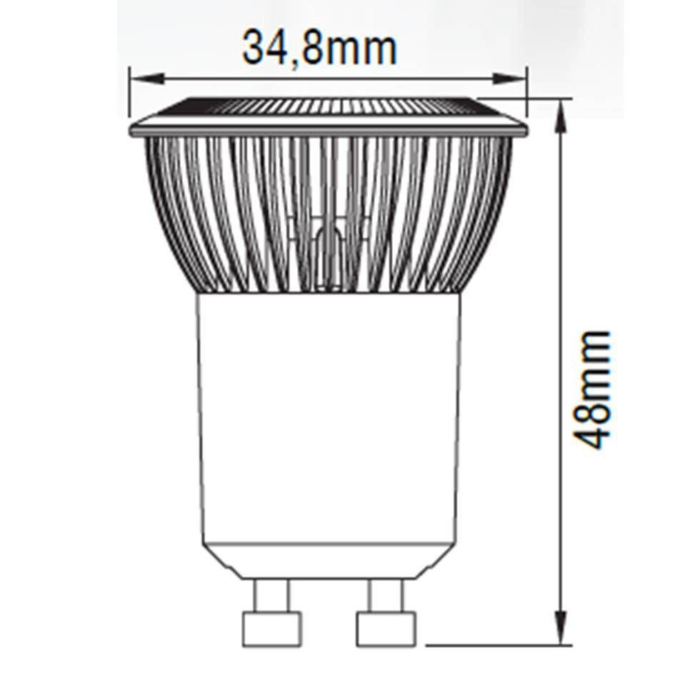 LAMPADA LED MINIDICROICA GU10 4W DIMERIZAVEL 3000K