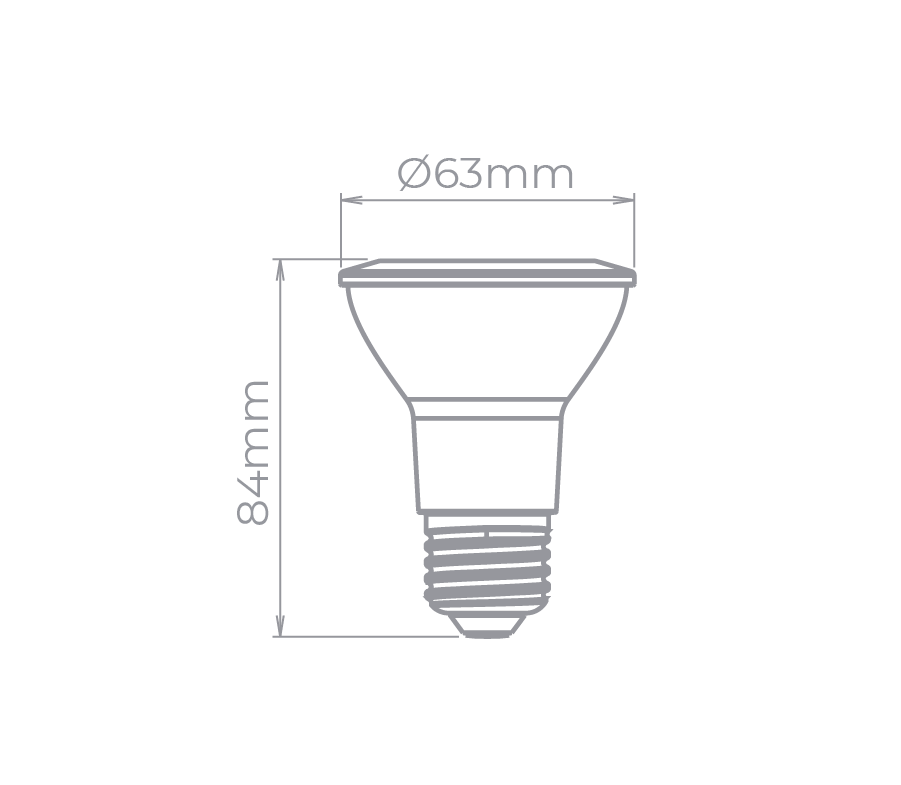 lâmpada PAR20 5,5w 40° Stella STH9024