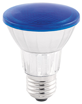 LAMP LED PAR20 COLOR GLASS 7W 45° LUZ AZUL STH6090/AZ