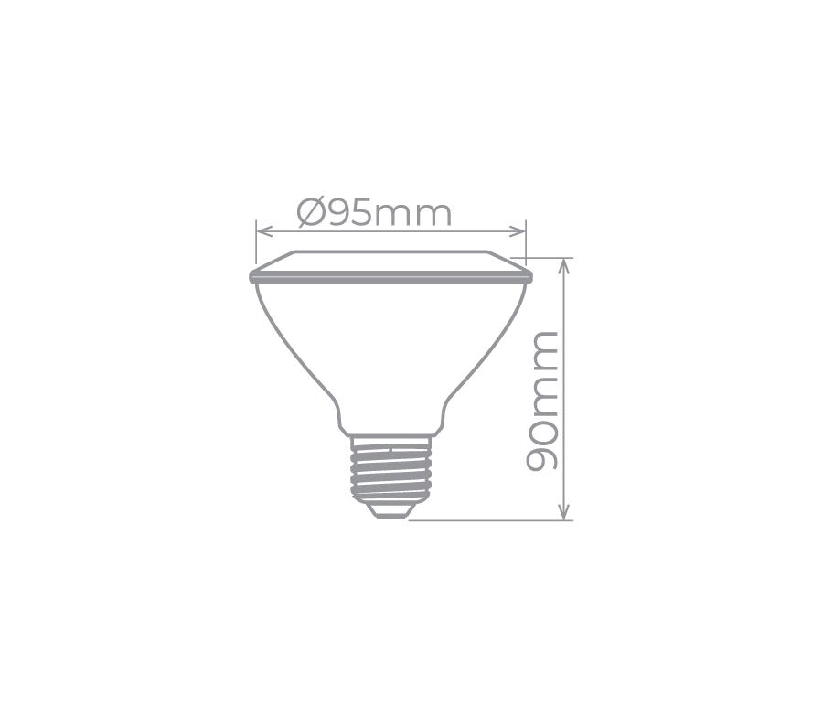 lâmpada PAR30 9w Stella STH9030