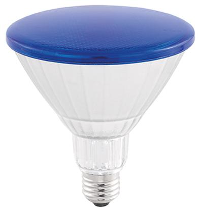 LAMP LED PAR38 COLOR GLASS 18W 45° LUZ AZUL STH6093/AZ