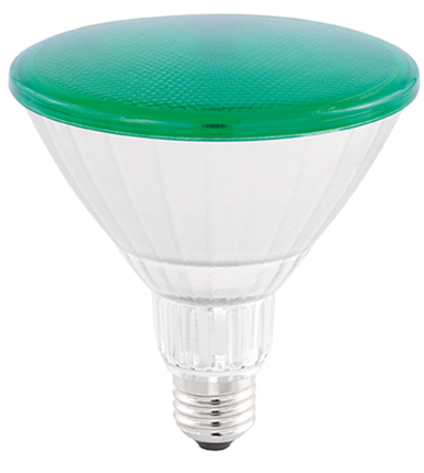 LAMP LED PAR38 COLOR GLASS 18W 45° LUZ VERDE STH6093/VD