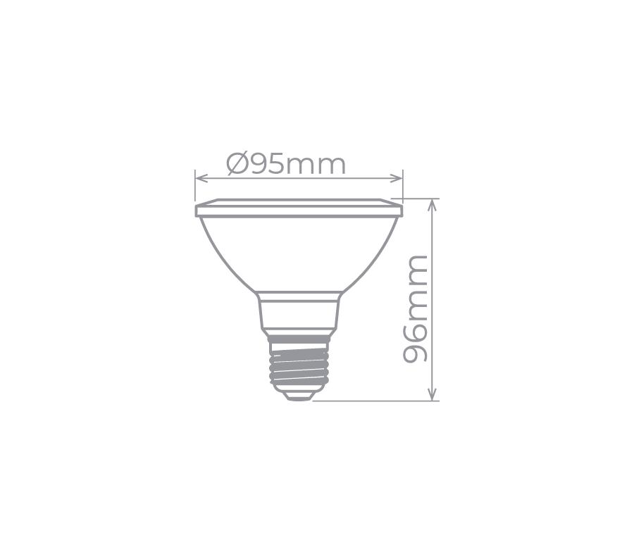 LAMP LED PAR30 EVO BDT 11W 25° 700LM STH7085/27