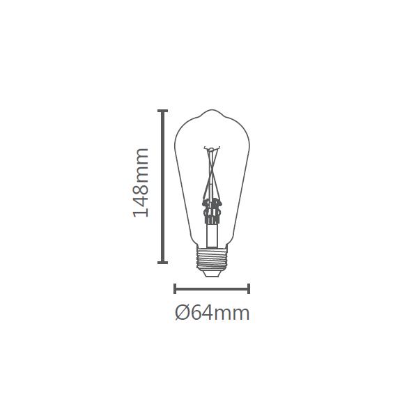 LAMP LED ST64 VINTAGE E27 2W STH6338/24