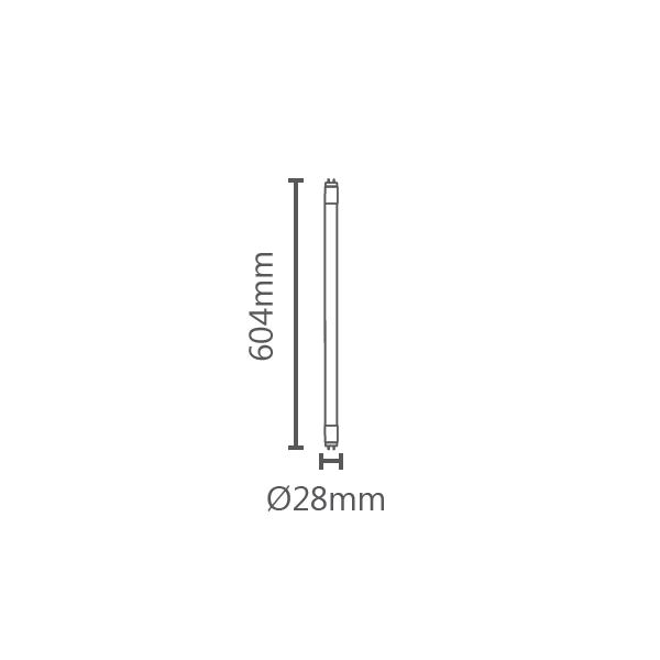 TUBULAR LED T8 60CM 9W 900LM STH9607/30