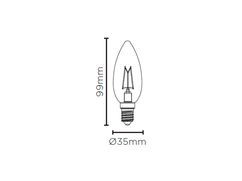 LAMPLED VELA LISA FILAMENTO DIM E14 4W 220V 250LM STH8362/24