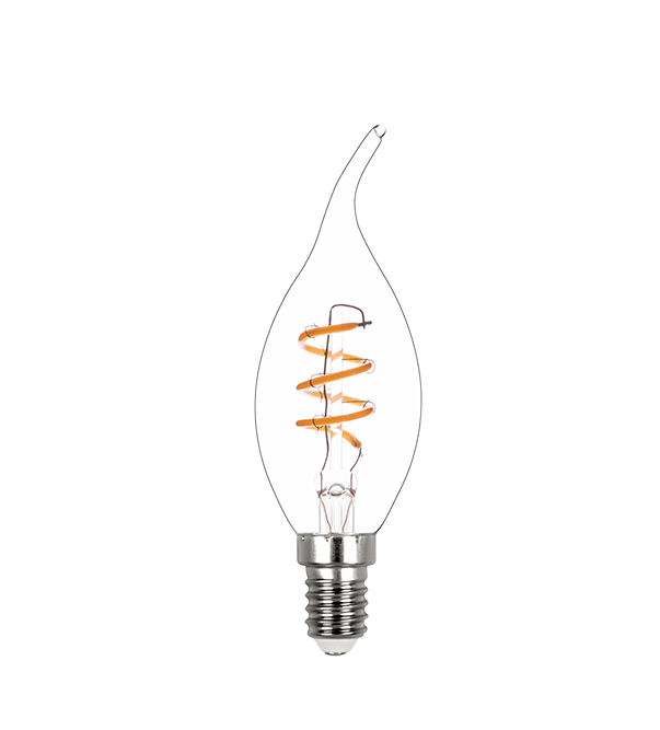 LAMPLED VELA CHAMA FIL ESPIRAL 2,5W 220V 180LM STH8394/24