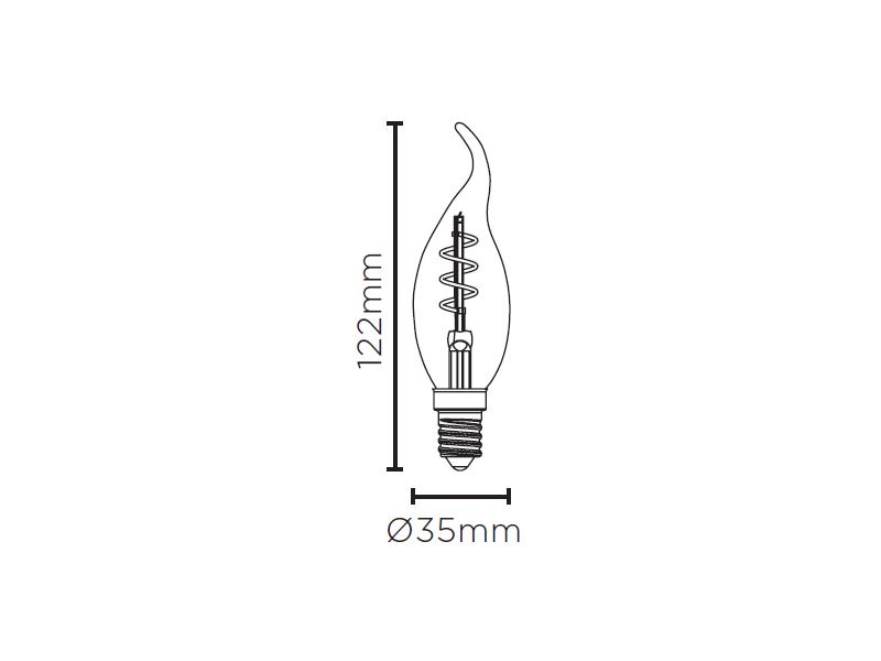 LAMP LED VELA CHAMA VINTAGE ESP 2,5W 127V 180LM STH8391/24