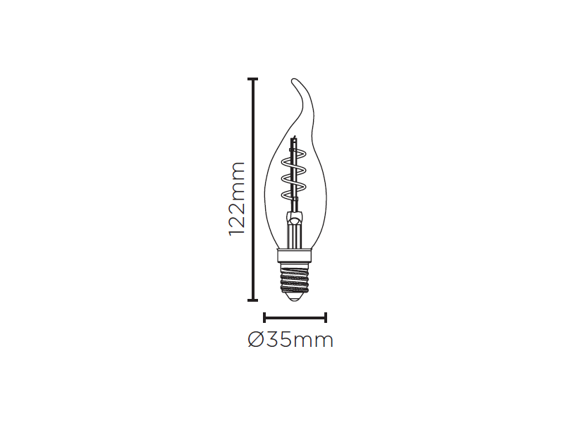 LAMP LED VELA CHAMA VINTAGE ESP 2,5W 220V 180LM STH8392/24