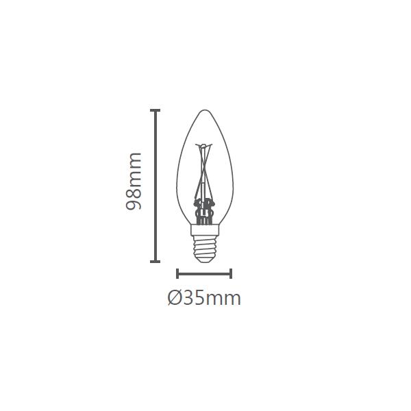 LAMP LED VELA LISA VINTAGE E14 2W 220V STH6322/24
