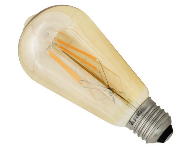 lâmpada vintage âmbar 2.300K 4W 400ml 12cm ilunato ILT1950