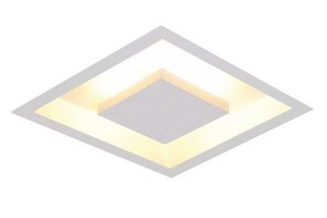 luminária embutida HIDE Luz Indireta Embutir 40X40Cm 4xbulbo Branco