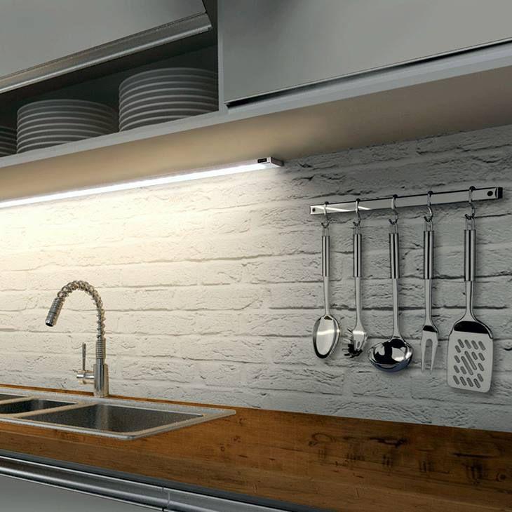 luminária flat sobreposta 120cm prata 27/30/40/60K MAGAZZINO ilunato ILT1660