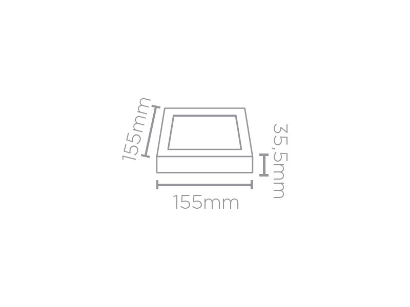 PAINEL SLIM SOBREPOR LED  6W 320LM QUADRADO STH6961Q/30