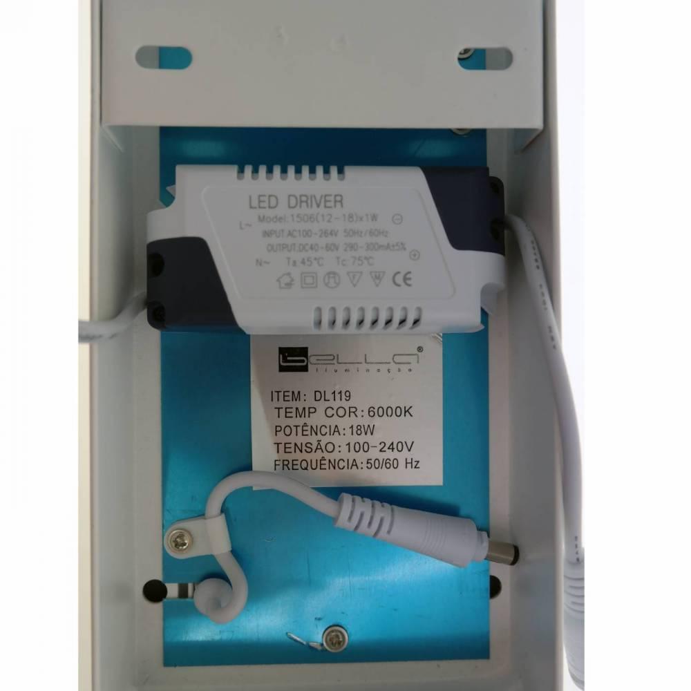 PLAFON SMART SOBREPOR RET 18W 3000K 10X60X3,5CM