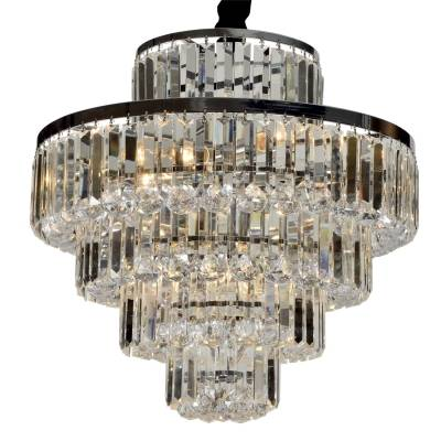 lustre DIJON 9xvela metal e cristal / diâm54cm Bella AQ009M
