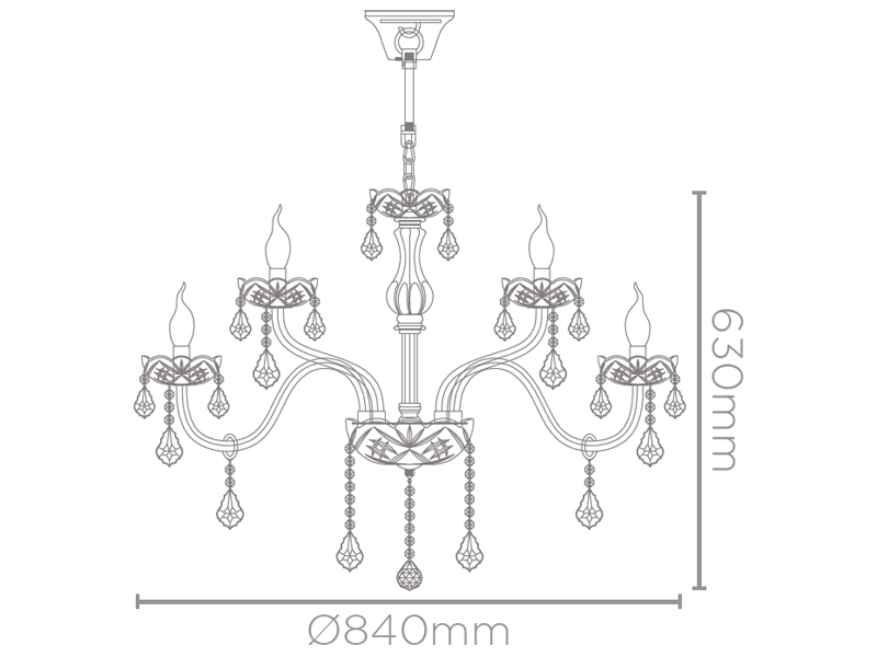 lustre RAFINNATO 15xvela cristal champanhe Stella SD9825/15