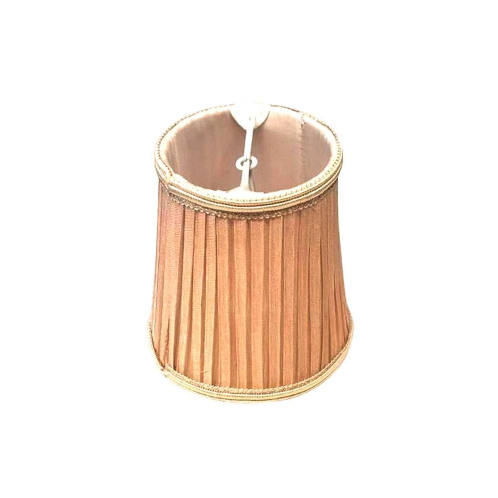 MINI CÚPULA bege p/ lâmpada vela 12,4cm Bella HU052C