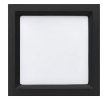 PAINEL DEEP LED EMBUTIDO PRETO 18W 1250LM QUADRADO 4000K STH8903PTO/40