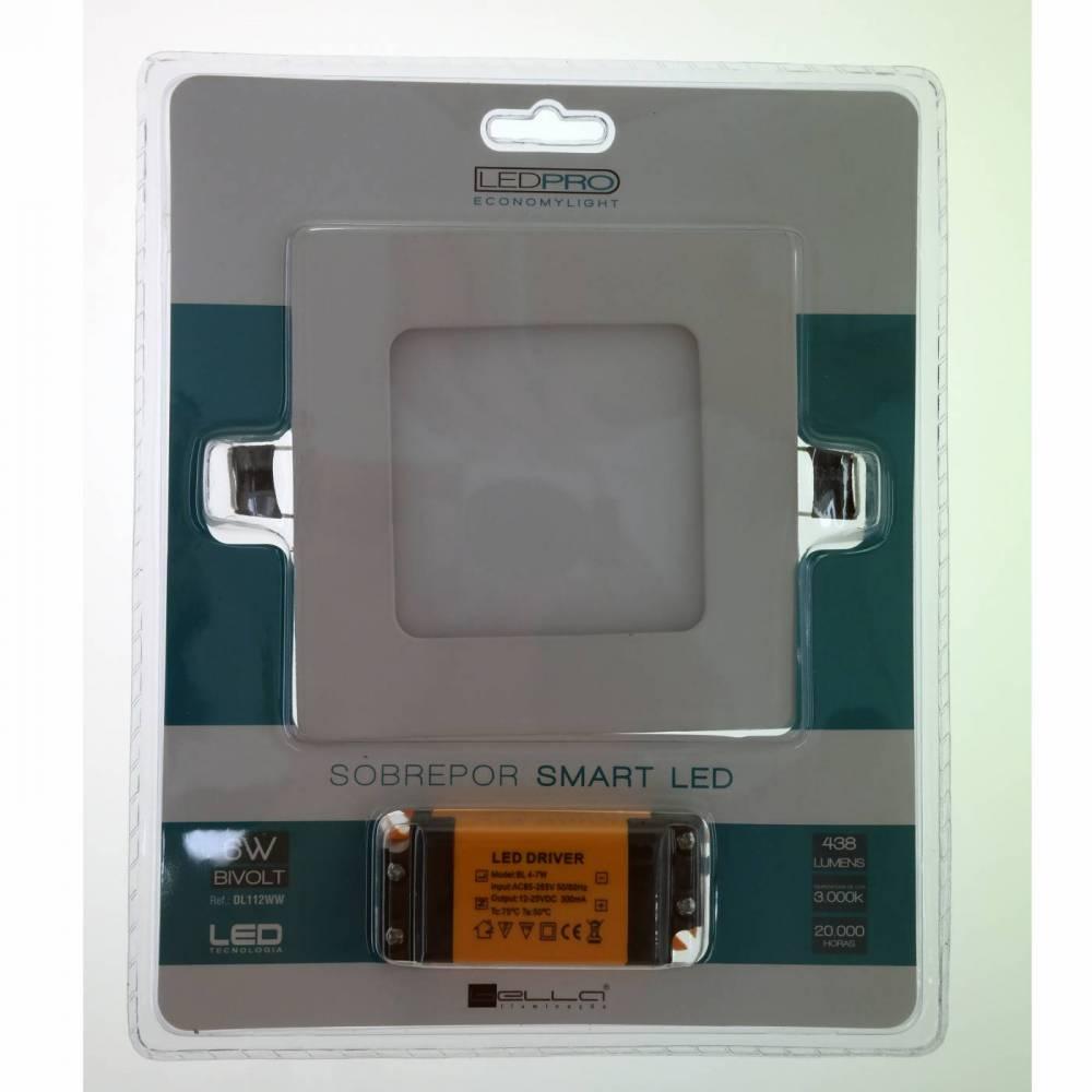 PLAFON EMBUTIDO QUAD SMARTQ  6000K LED 6W - BR