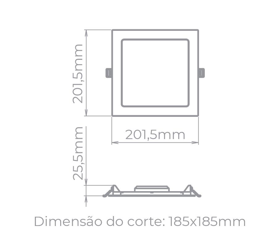 PAINEL LED 18W 1200LM QUADRADO STH9953Q/30