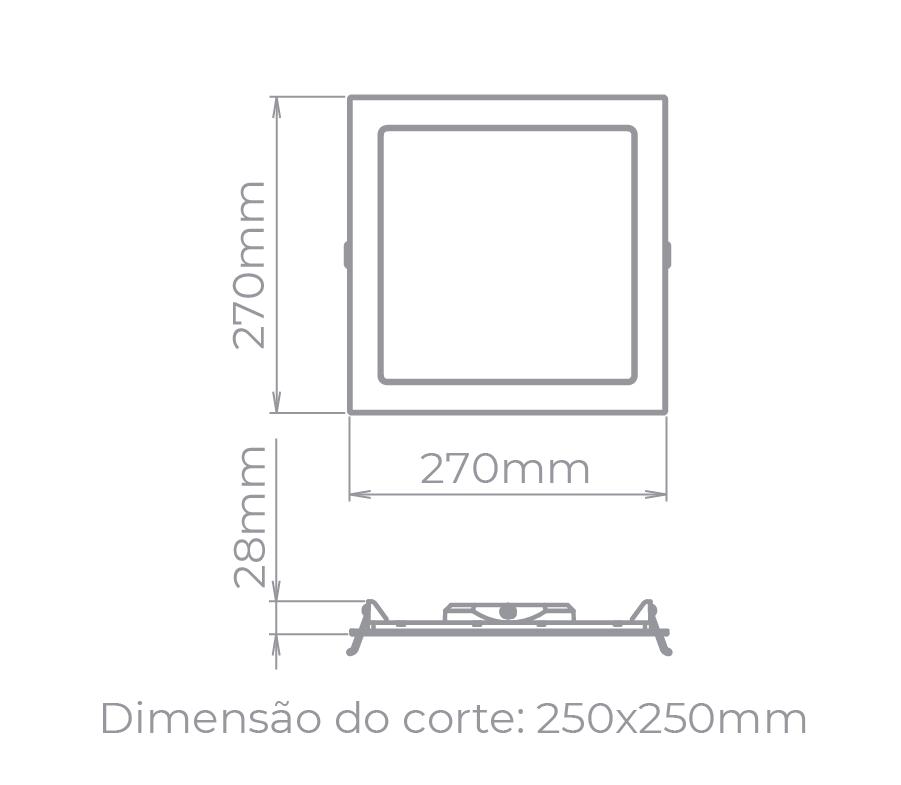 PAINEL LED 24W 1750LM QUADRADO STH9954Q/65