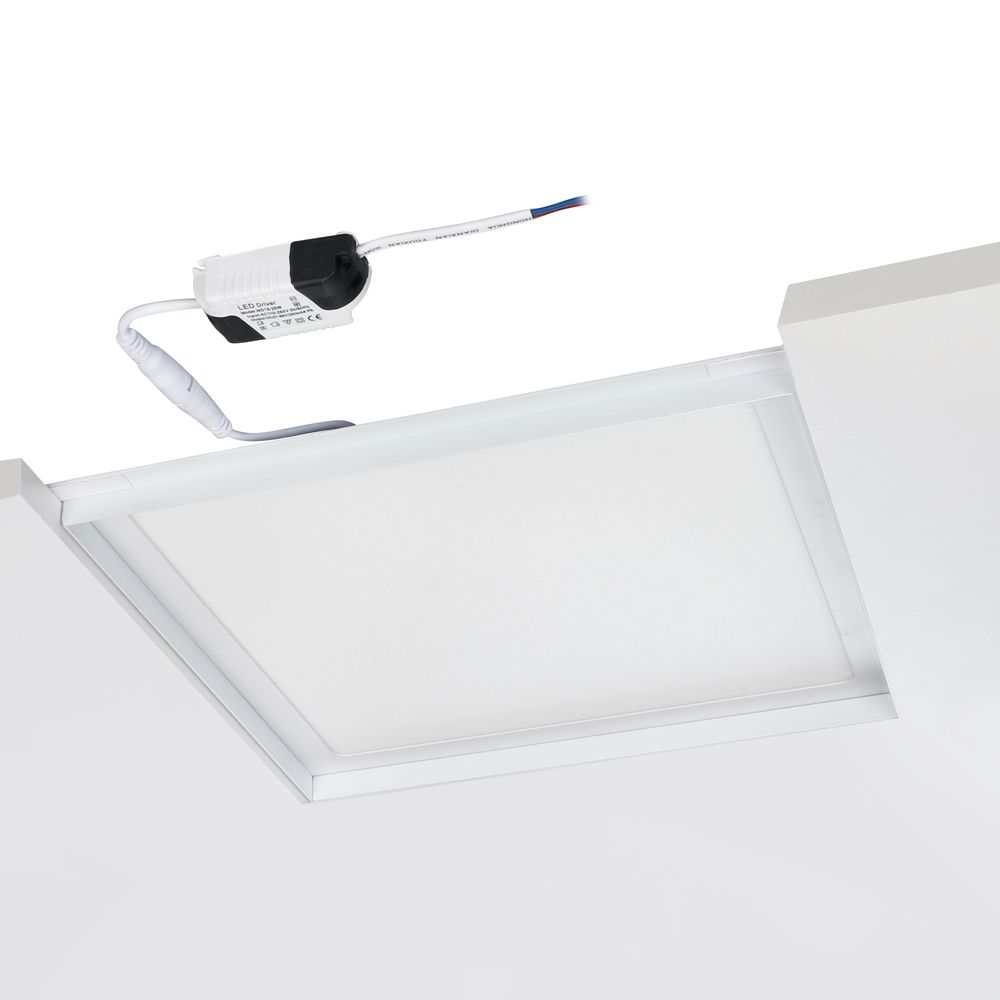painel plafon LISCIO embutido com recuo antiofuscante ilunato ILT1430