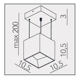 PENDENTE ARKITEK 10,5CM X 10,5CM X 10CM  1 X LED 9W 127V / 220V BRANCO