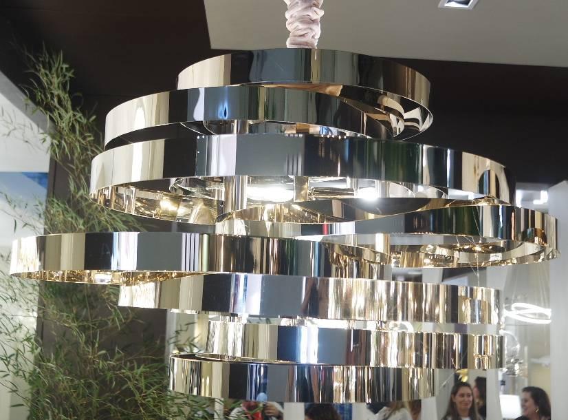 PENDENTE ATHENA 80cm x 40cm  5xE14 127V / 220V FRENCH GOLD