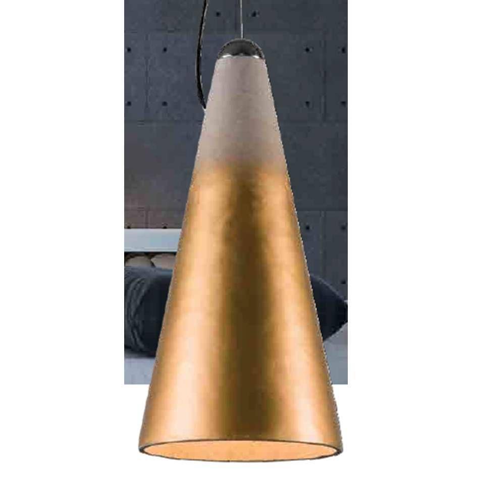 pendente BLOCK dourado 1Xbulbo Stella SD8060