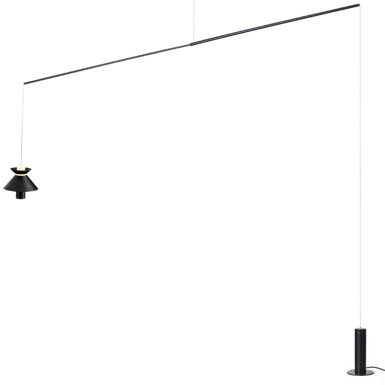 PENDENTE CORDEL METAL e ACRILICO 25cm x 200cm x 150cm  1 X LED 7W 127V / 220V PR