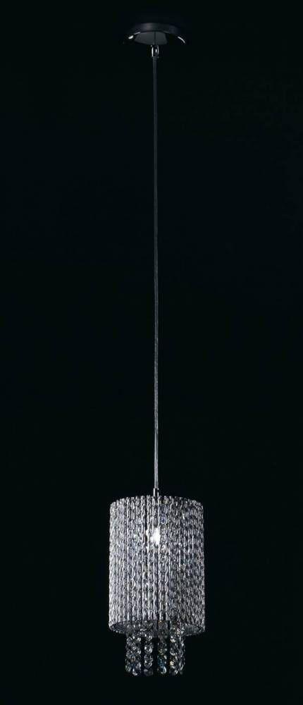 PENDENTE ADAGIO D 15cm x 20cm  1xG9 127V / 220V CROMADO E TRANSP