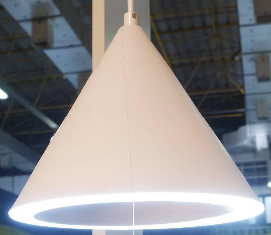 PENDENTE HAT D 20cm x 17cm  1 x LED 11W 127V / 220V BRANCO