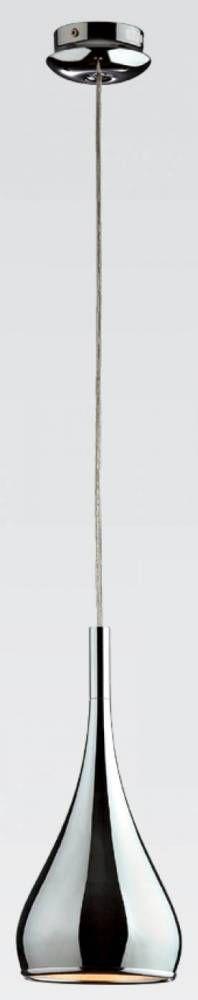 PENDENTE KON 20cm x 51cm  1xE27 127V / 220V CROMADO