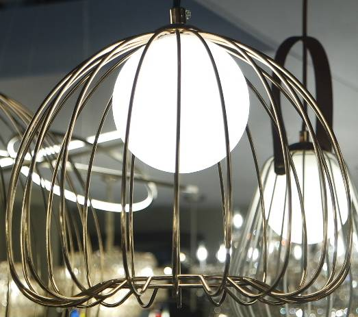 PENDENTE LAMP 25cmx21cm  1xG9 BIVOLT FRENCH GOLD/B