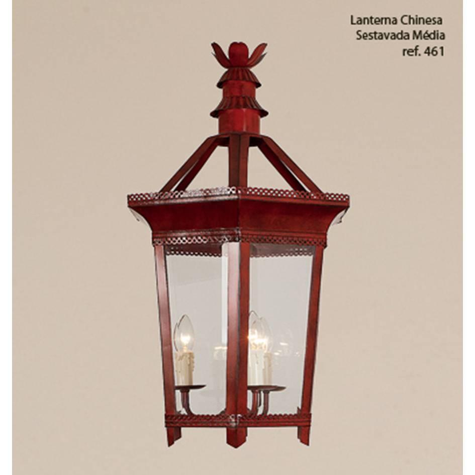 pendente lanterna CHINESA vermelha 3 velas Ilunato TL461