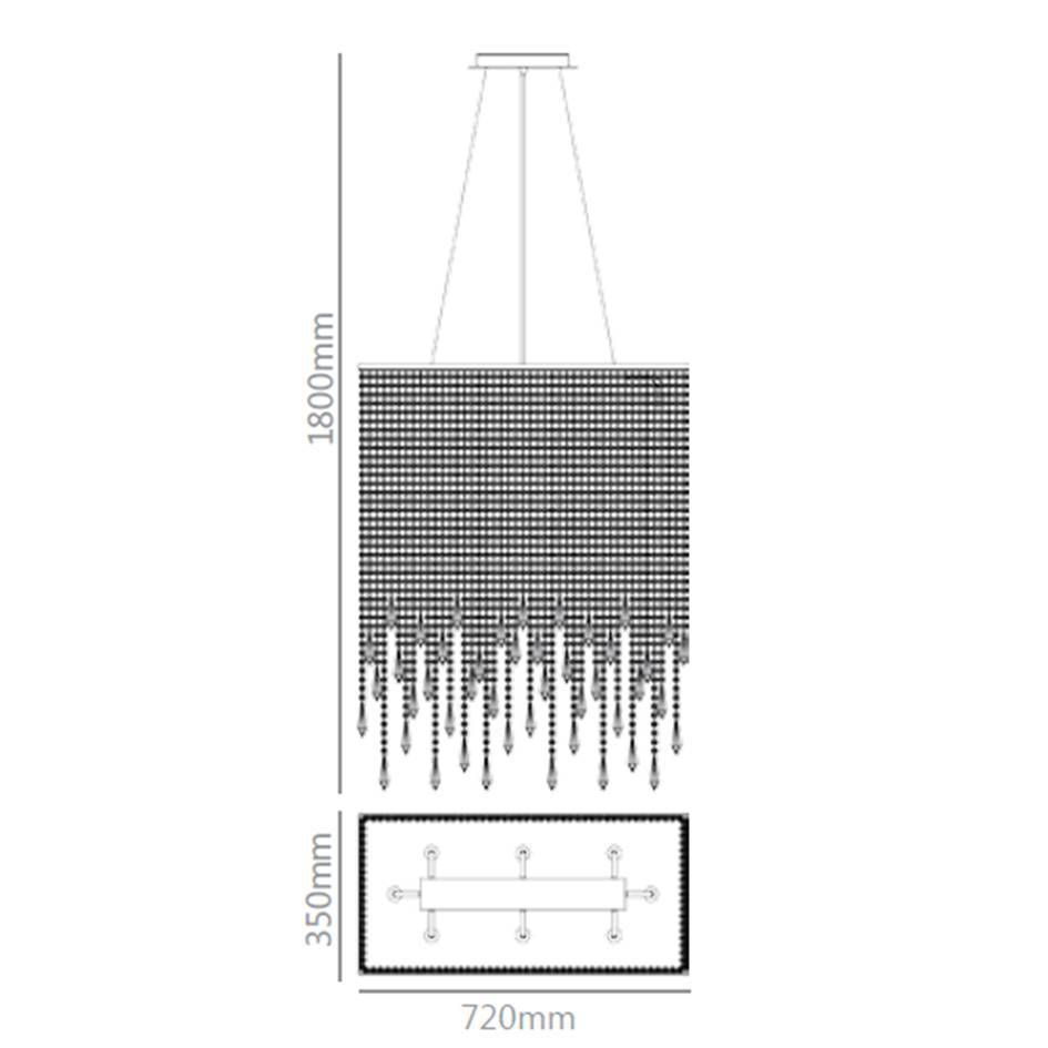 pendente PORRO 12xbi-pino cristal  Stela SD9045