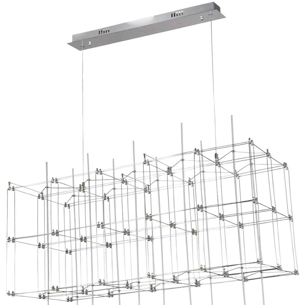 PENDENTE SKY 91cm x 41cm x 40cm  54 x LED 0,2W CROMADO E TRANSPARENTE