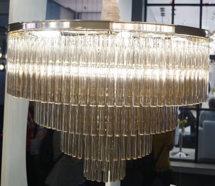 PENDENTE VIVI 60cm x 42cm  9xE14 127V / 220V FRENCH GOLD E CONHAQUE