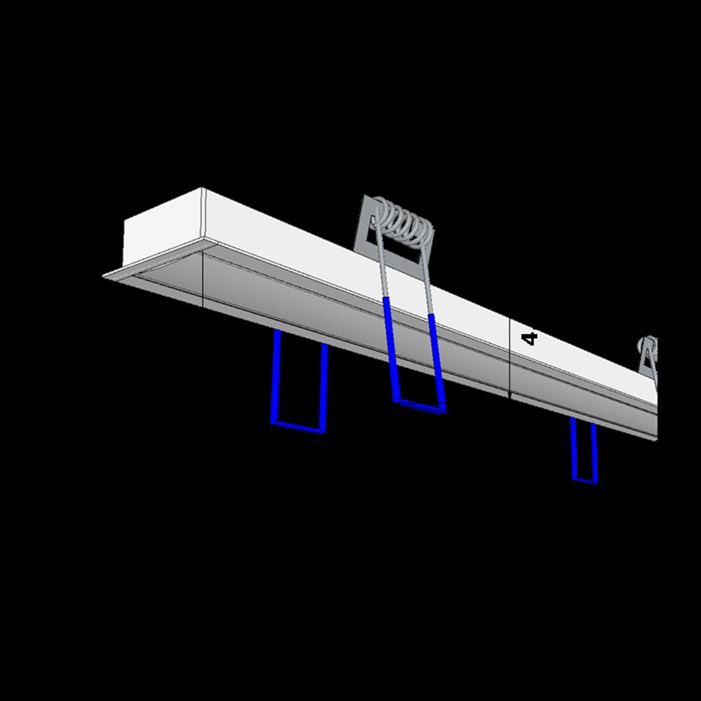 perfil de led AFFILATO branco embutido gesso ilunato ILT0060