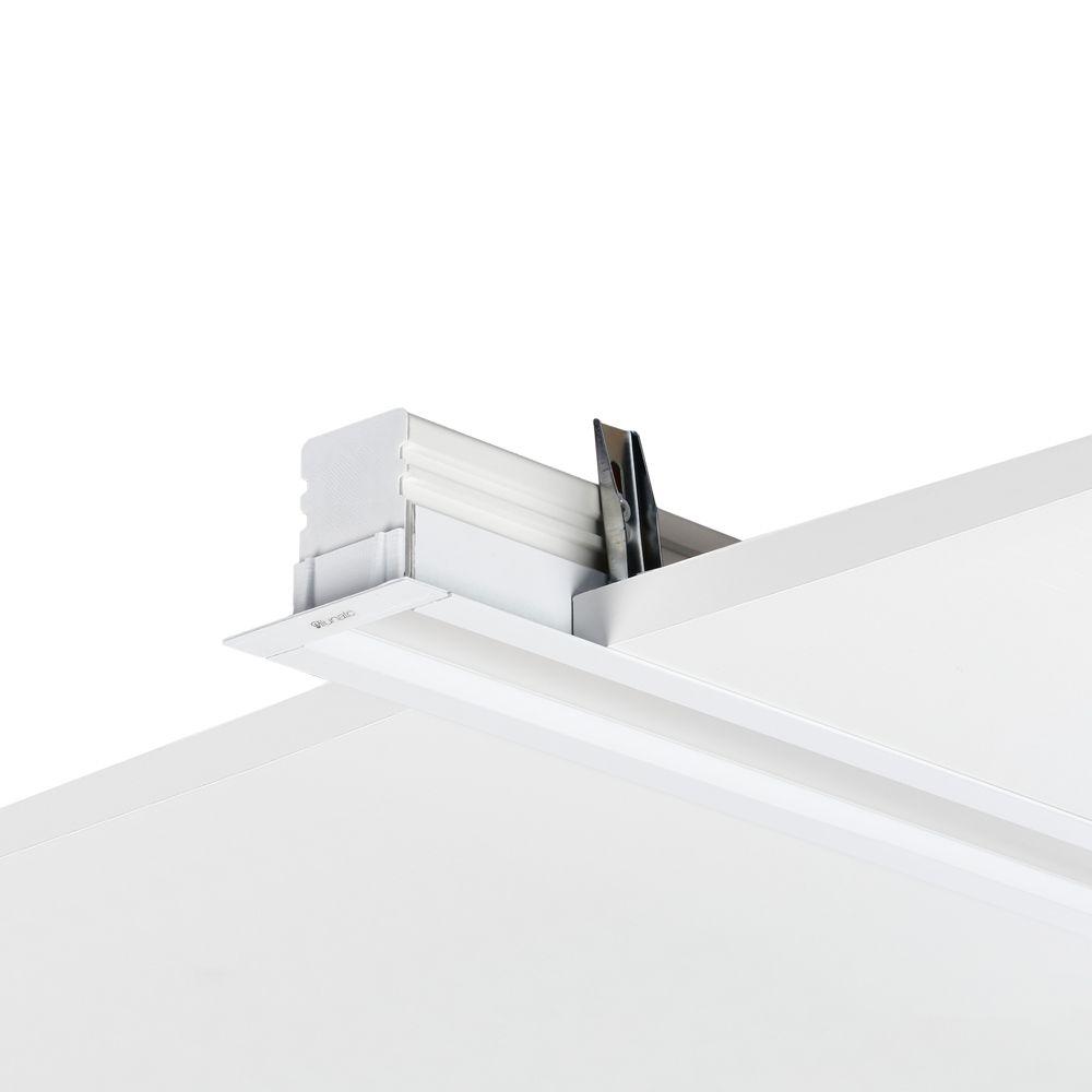 perfil de led CHIARO branco embutido gesso ilunato ILT0110