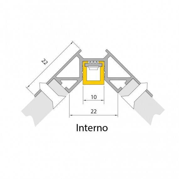 perfil de led CORNER interno Mister led SLED9074