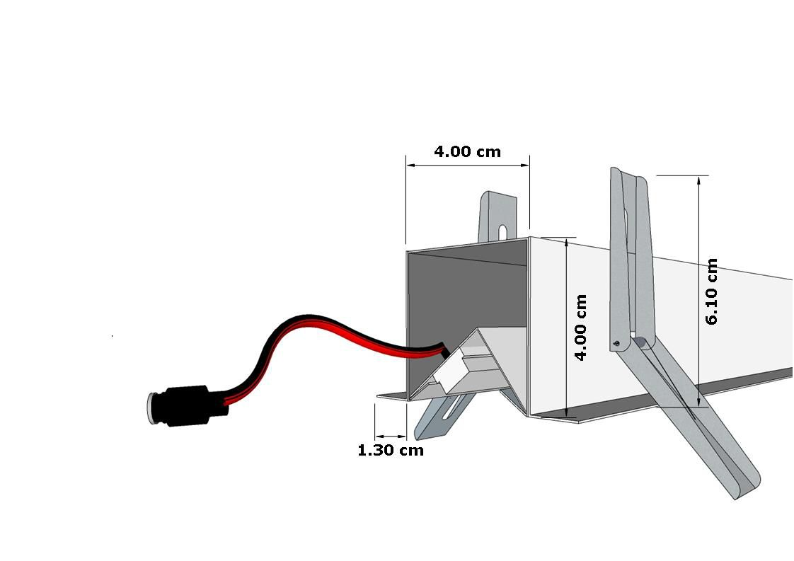 Perfil de Led Destra Embutido Gesso Assimétrico Quadro Estante ilunato ILT0240