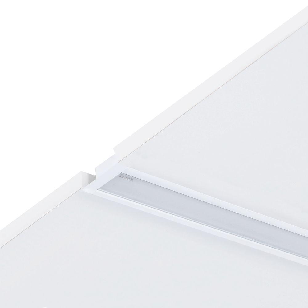 Perfil de Led Branco Dritto Embutido Forro de Gesso 19W/M ou 38W/M RGBCCT Automação Ilunato - ILT1840