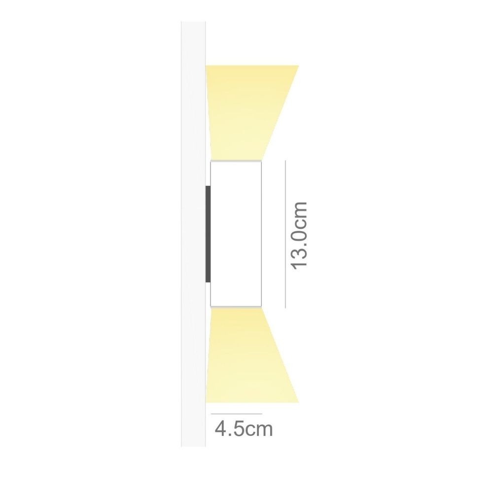 Perfil de Led Duo arandela facho duplo/ 38W/m / alumínio e acrílico ILT2560